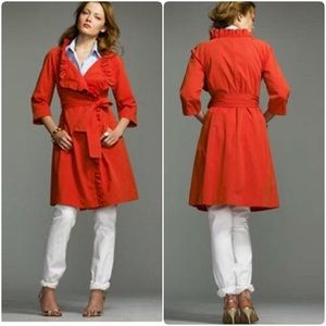 Gayle Trench Coat In Bright Flame